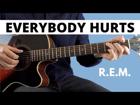 Everybody Hurts by R.E.M (Beginner Guitar Lesson)
