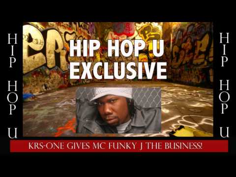 KRS-One Goes in on MC Funky J over a...