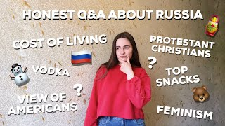 Huge Q&A About RUSSIA - Stereotypes, Money, Orthodox Church, Maternity Leave and Many More!