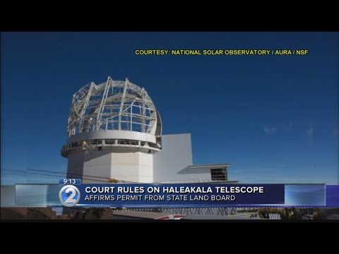 Hawaii Supreme Court upholds telescope construction on Haleakala