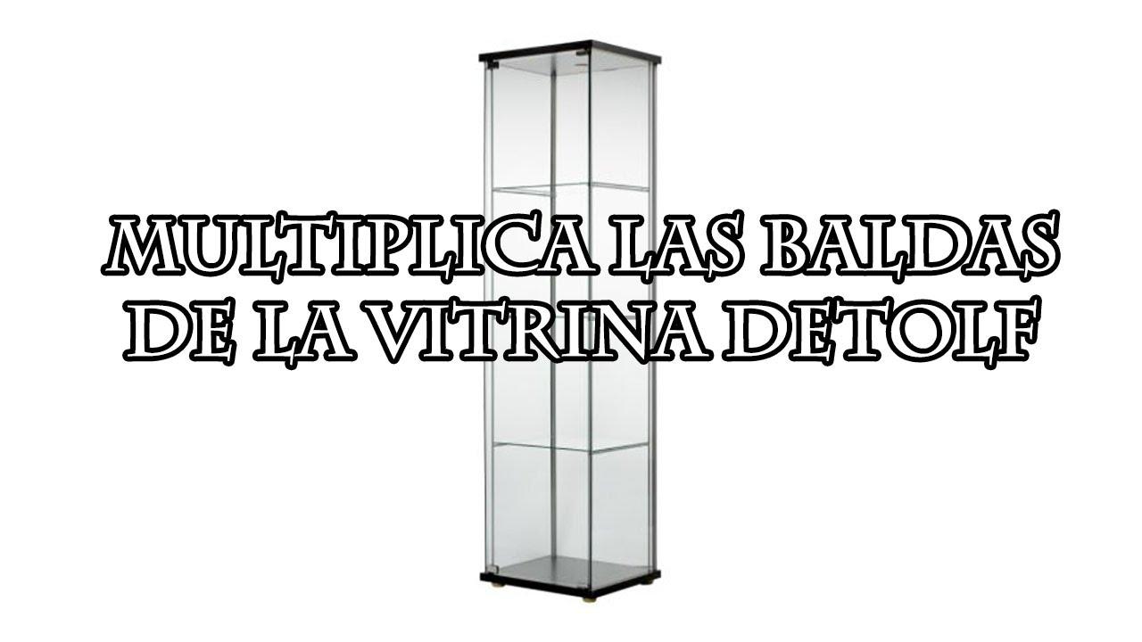 Multiplica las baldas de la vitrina detolf de ikea youtube for Vitrinas de cocina ikea