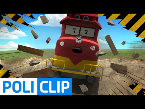 Train accident in The Brooms town (Korean)   Robocar Poli Clips