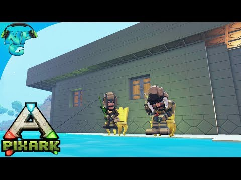 PixARK - Dangers of the Magic Zone and a Frenzy of Farming, Fishing and Fighting! E9