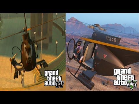 GTA IV & GTA V: Helicopter Crashes & Bailouts Compilation [1080p]