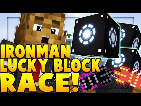 *NEW* IRON MAN LUCKY BLOCK MOD RACE w/ The Pack | Minecraft - Lucky Block Mod