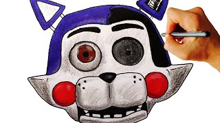 How to draw withered Candy cat jumpscare from FNaC 2 FNaF fan game drawing lesson