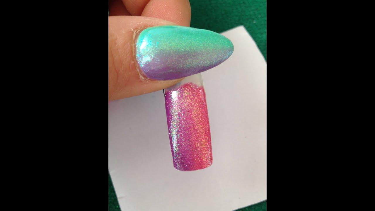 Mini tutorial nail art effetto shade effetto specchio - Unghie effetto specchio polvere ...