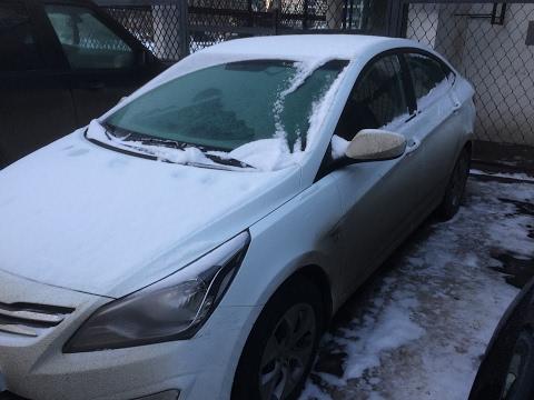 Hyundai Solaris при морозе -20
