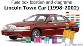 Fuse Box Location And Diagrams Lincoln Continental 1998 2002 Youtube