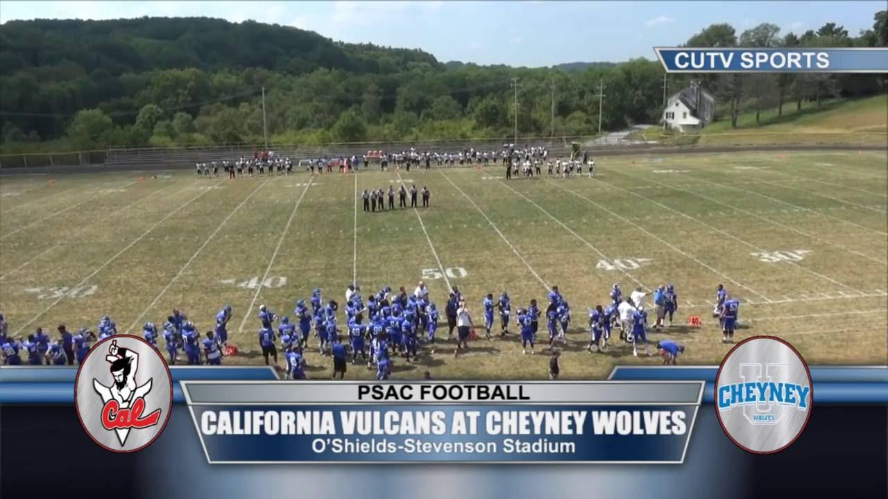 California Vulcans At Cheyney Wolves Football 1 00pm Youtube