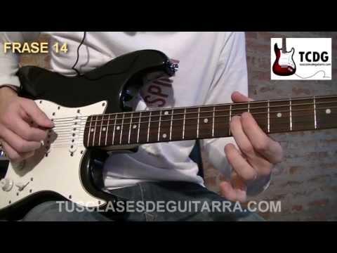Aprender como tocar el solo de Back in Black (AC/DC) Guitarra acordes notas la cuerda Curso TCDG
