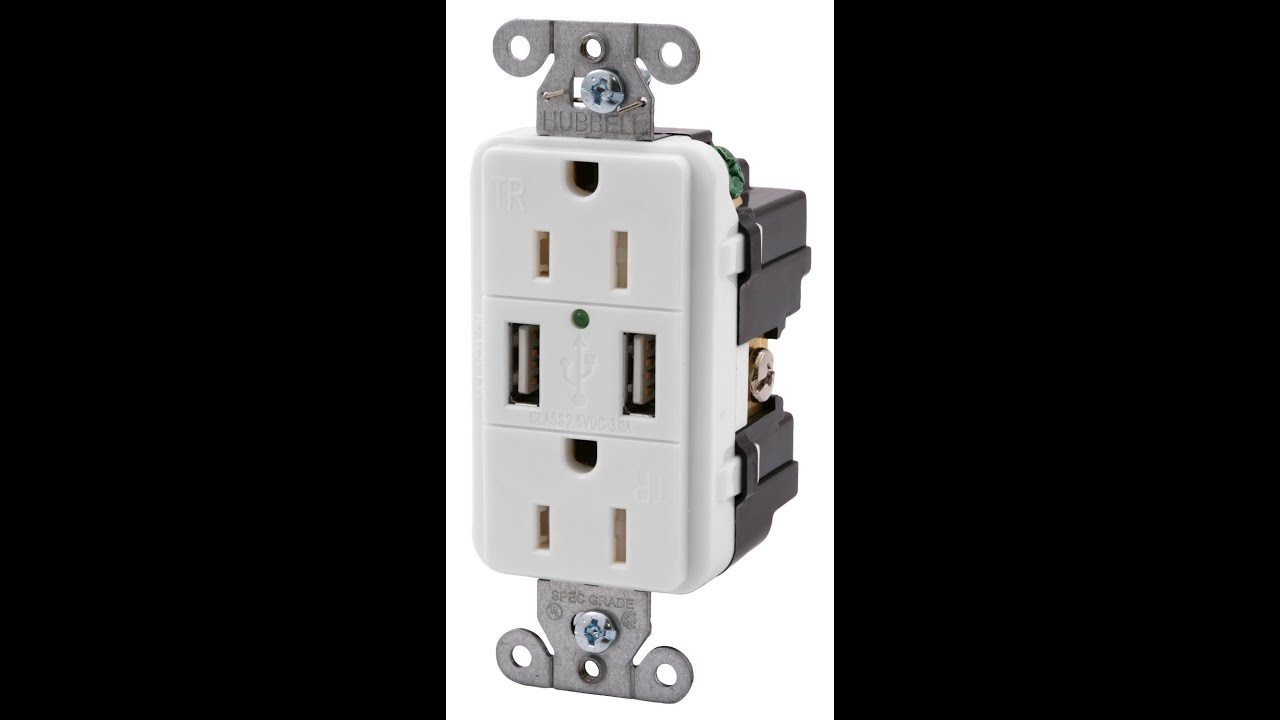 Bryant Electric USB Charger Receptacle Installation - YouTube