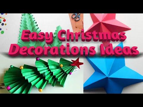 3 Easy Christmas Decoration Ideas Christmas 3d Star Christmas Tree Festival Decoration Youtube