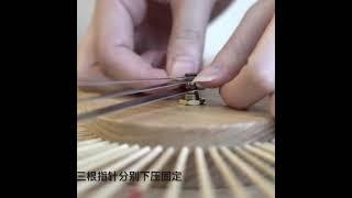저소음 대나무 빈티지 엔틱 벽시계 12인치 원목 우드