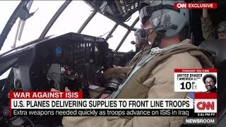 Plane delivers weapons to troops fighting ISIS