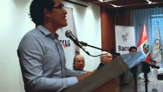 """Nadador Erick Vásquez fue distinguido con el """"Premio Fair Play"""" Edición 2014-video"""