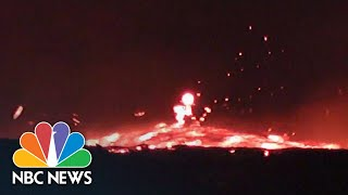 Fiery Torrent Of Fast-Moving Lava Flows From Hawaii's Kilauea | NBC News