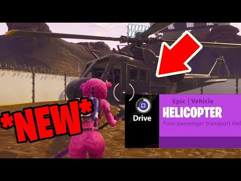 How To Fly The HELICOPTER In Fortnite: Battle Royale *NEW* Easter Egg