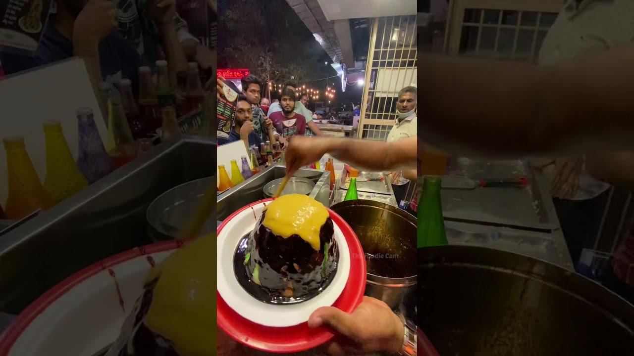 #short   Giant Ice Dish - Najranu  , Rajwadi Malai Ice Gola   Surat Street Food