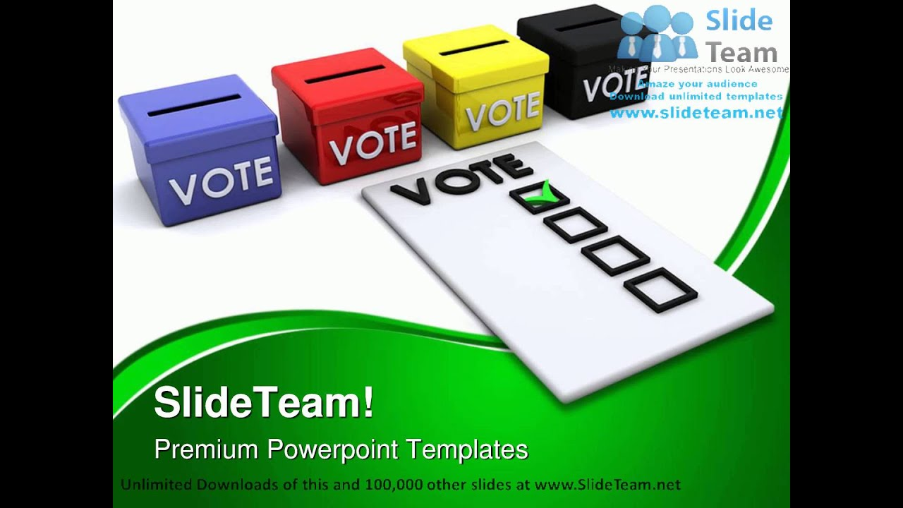 election ballots template - election ballot box government powerpoint templates themes