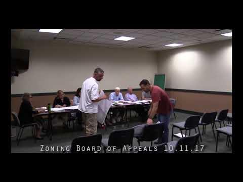 Zoning Board of Appeals 10.11.17