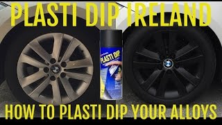 Plasti Dip Ireland - How to Plasti Dip your Alloy Wheels - Matte Black Rims