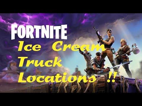 Fortnite Ice Cream Truck Locations !