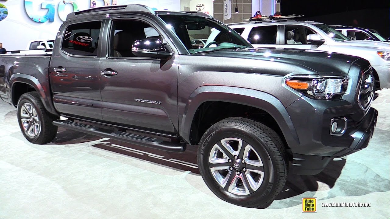 2017 toyota tacoma limited exterior and interior walkaround 2016 la auto show youtube. Black Bedroom Furniture Sets. Home Design Ideas