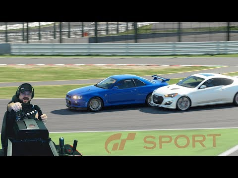 Gran Turismo: Sport — добротная схватка с Toyota S-FR и испытание на Nissan Skyline GT-R (R34)