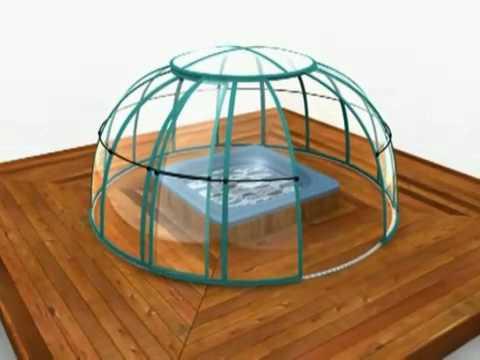 SPA DOME ORLANDO Spa Enclosure Construction Animation