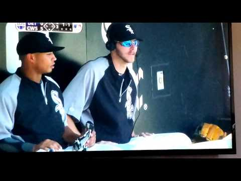 Chris sale pelted with sunflower seeds