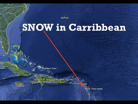 "Never before seen SNOW in the Carribbean! | ""extraordinary"""