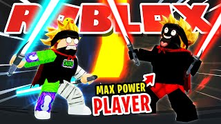 ROBLOX SABER SIMULATOR *BULLY* CHALLENGES ME TO A 1V1 AND THE LOSER DELETED THE ROBLOX ACCOUNT!!