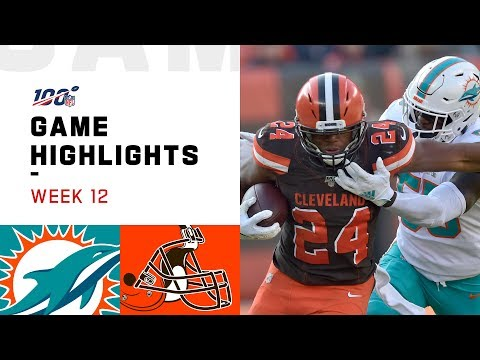 Dolphins vs. Browns Week 12 Highlights | NFL 2019