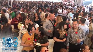 Más de 600 parejas se casan en la explanada de la Venustiano Carranza