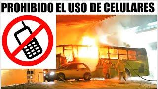El peligro de utilizar celular en una estación de combustible