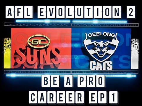 AFL EVOLUTION 2 BE A PRO CAREER EP.1! - MY FIRST GAME AFL EVOLUTION GAME