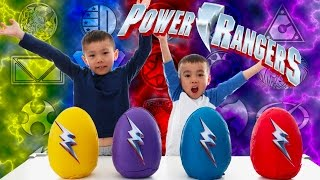 Power Rangers Movie 2017 | Play Doh Surprise Eggs Opening | It s Morphin Time | LRH & Toyz