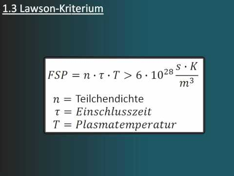 Kern-Fusion / Trägheitseinschluss / Magnetischer Einschluss Part (1/5)