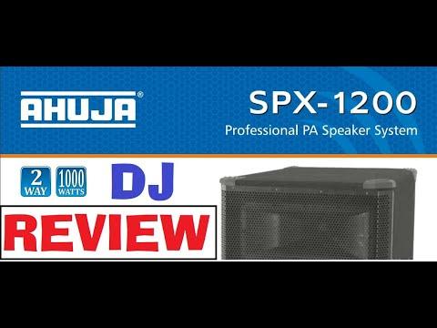 Ahuja SPX 1200 DJ Top model 1000watt speaker Review and Matching Amplifier