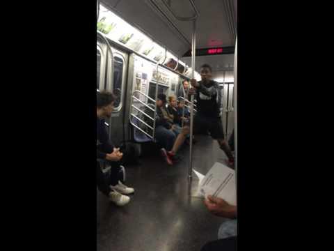 The E-Train dance show in New York City