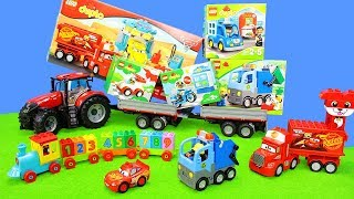 Lego Duplo for Kids | Colors & Numbers Toy Unboxing with Cars & Tractor | Build your Animals