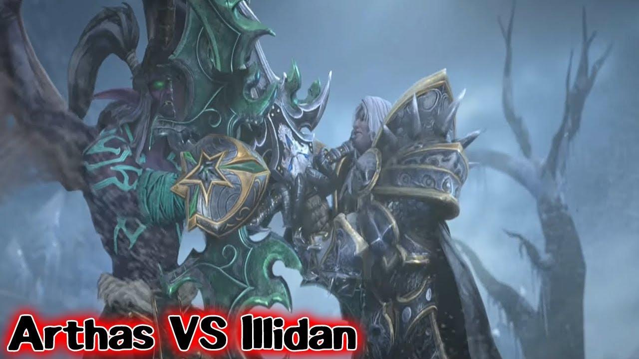 Warcraft 3 Reforged Arthas Vs Illidan Cutscene Youtube