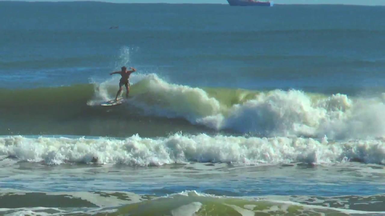 New Smyrna Beach Fl Hurricaine Double Rainbow Surfing