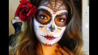 Sugar Skull Makeup Tutorial | Dia De Los Muertos - Halloween 2015