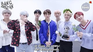 [ENG] 180414 [BANGTAN BOMB] BTS won 1st place (subtitle. Special MC day) @Mcountdown - BTS (방탄소년단)