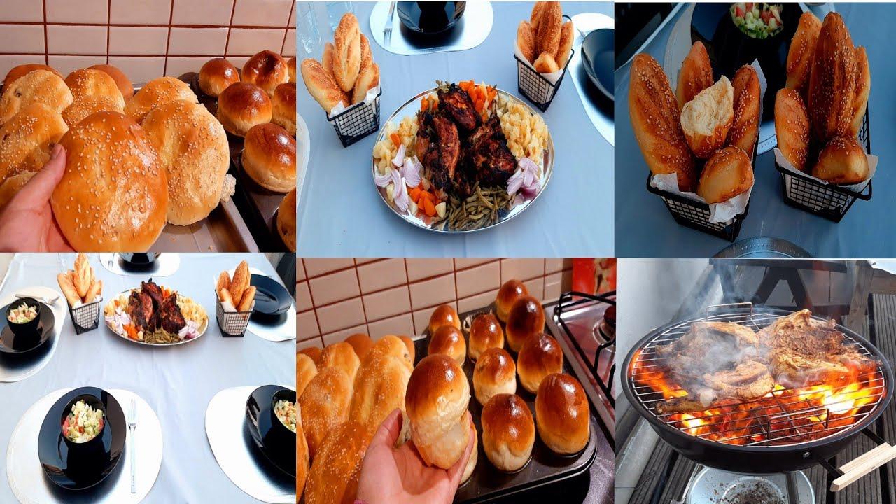 يلاه الحدكات ورولي حنات يدكوم😊ثلاثة ديل الوصفات كل وحدة حسن من اخرا /خبز  بالحليب+بريوش+دجاج مشوي