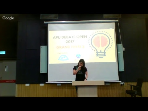 Asia Pacific University Debate Open 2017 - Grand Finals