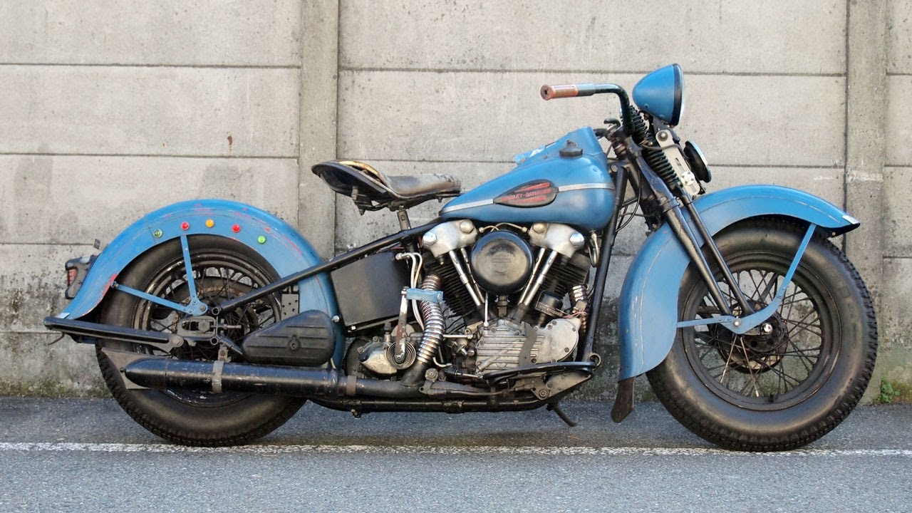 1946 FL HARLEY DAVIDSON KNUCKLEHEAD - YouTube