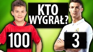 3 PIŁKARZY vs 100 DZIECI | Piłkarski eksperyment